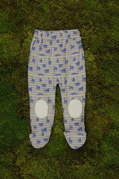 Patch Footed Pant | Blue Animal Parade Print - Kate Quinn Organics