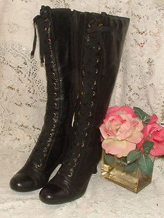 Ladies Clarks Victorian Style long boots Size 4. in Clothes, Shoes & Accessories, Women's Shoes, Boots | eBay!
