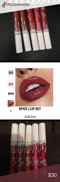 Kylie Velvet Matte Juniper Liquid Lipstick (Spice) Brand New, part of the sold out out spice collection Kylie Cosmetics Makeup Lipstick