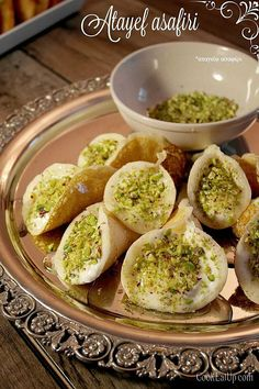 Atayef Greek Desserts, Avocado Toast, Baked Potato, Food And Drink, Potatoes, Baking, Breakfast, Ethnic Recipes, Emporio Armani