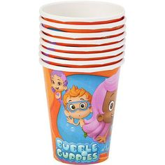 Bubble Guppies 9 oz. Paper Party Cups, 8 Count, Party Supplies $1.47