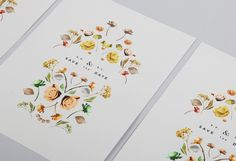 botanical collection — wedding invites