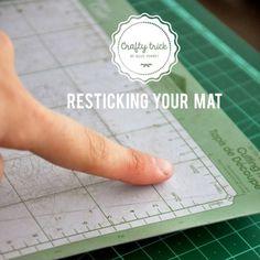 DIY  Make Your Cricut Cutting Mat Sticky Again