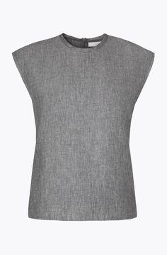 Shell Top, Denim Linen, Washed Grey — Atea Oceanie