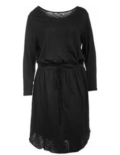Cotton dress with drawstring in Black designed by Manon Baptiste to find in Category Dresses at navabi.de
