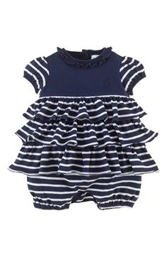 Ralph Lauren Jersey Bubble Romper (Baby Girls) available at  Nordstrom Baby  Girl Romper d9d9638ffab