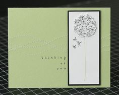 Love the stitching on this Dandelion Card by Lisa Carroll (stamp by Hero Arts). The Dandelion is our Stamp of The Week!