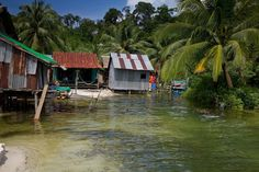 Koh Rong Cambodia - Village shacks