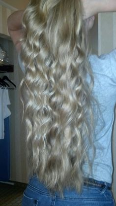 long, blonde hair