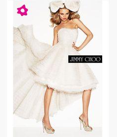 Le scarpe da sposa Jimmy Choo 2012. Ma anche il vestito da sposa corto ...