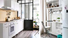 A flexible kitchen built with modular units