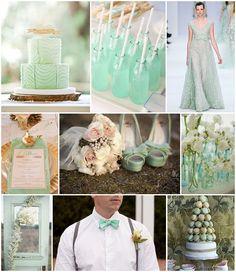 mint wedding inspiration board