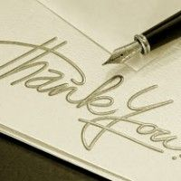 THANK YOU cards. The art of writing a thank you card has gone out the window with email and e-cards. Nothing replaces a written thank you card mailed to the recipient the old fashioned way!