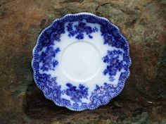 Flow Blue Saucer W H Grindley Co. Osborne Pattern
