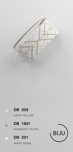 US$4.72 Loom bracelet pattern, loom pattern, miyuki pattern, square stitch pattern, pdf file, pdf pattern, cuff #16BIJU