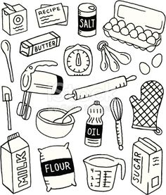 A baking-themed doodle page.