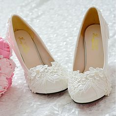 Women's Shoes Lace PU Spring Fall Comfort Wedding Shoes Round Toe Rhinestone Applique Beading Imitation Pearl Stitching Lace For Wedding - AUD $36.02 ! HOT Product! A hot product at an incredible low price is now on sale! Come check it out along with other items like this. Get great discounts, earn Rewards and much more each time you shop with us!