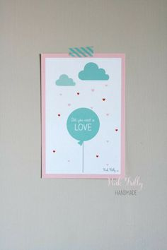 FREE printable: all you need is LOVE