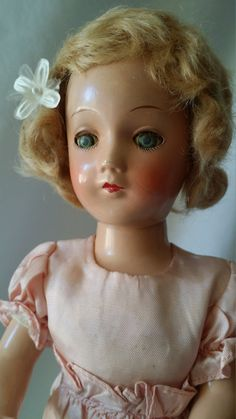 """Delphine ~ 1940s Haunted Composition Doll 13"""" ~ Taffeta Dress ~ Active Spirit ~ Positive Energy, French Origins ~ Dame Blanches by FugitiveKatCreations on Etsy"""