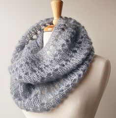 Fall Scarf Fashion - Luxurious Knit Scarf in Kid Mohair and Silk - Genna Cowl - Snood. $120.00, via Etsy.