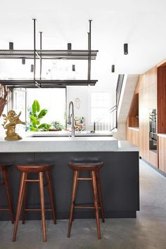 An inspired approach to colour in a vibrant Victorian terrace | Inside Out Victorian Terrace, House Tours, Kitchens, Vibrant, Colour, Inspired, Table, Furniture, Home Decor