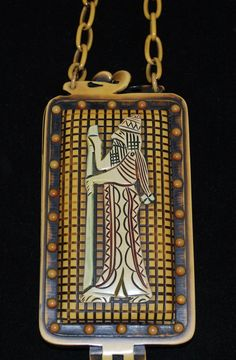 Really Cool Celluloid Egyptian Revival Vanity Purse Circa 1920's