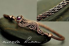 viking knit jewelry   Jewelry and Bling: Viking Knit wire wrapped hammered wire bracelet