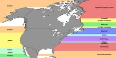 No, It's Probably Not China: This Map Depicts What's Across The Ocean If You're On The Beach (Photo)