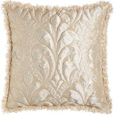 Dian Austin Couture Home Each Neutral Modern Damask European Sham ($156) ❤ liked on Polyvore featuring home, bed & bath, bedding, bed accessories, euro pillow shams, dian austin couture home, european bedding, neutral bedding and pleated bedding