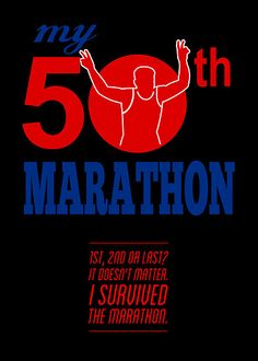 50th Marathon Race Poster  by patrimonio