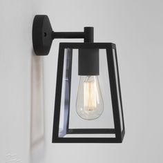AX7105 - Calvi Wall Lantern in Textured Black with Clear Glass Diffuser for Outdoor Lighting IP23