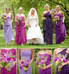 This looks like it's straight out of a magazine w/ the different dresses and colors all working together!