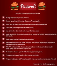 Guide to Pinterest Marketing Recipe
