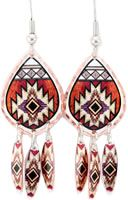 Colorful Southwest Native Earrings hand made by skilled artisans of Copper Reflections