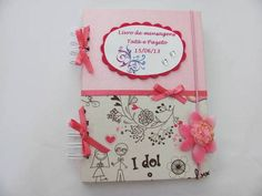 Caderno decorado para mensagens.