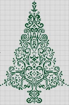 Christmas Tree in Filet Crochet - Graph only