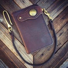 Handmade Custom Leather Mid Wallet Biker by CultClassicLeather Leather Notebook, Leather Books, Leather Journal, Leather Chain, Leather Jewelry, Leather Bag, Leather Wallets, Wallet Chain, Long Wallet