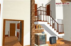 proiecte de case cu semineu House plans with fireplaces 13 House Plans, Stairs, How To Plan, Fireplaces, Uni, Home Decor, Homes, Houses, Blueprints For Homes