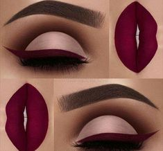 """Obsessed with this color Brows: waterproof creme color in """"sable"""" Eyeshadow: Palette Eyeliner and Lips: """"Wine Down"""" liquid lipstick Maquillage Kylie Jenner, Maquillage On Fleek, Makeup Goals, Makeup Inspo, Makeup Inspiration, Makeup Ideas, Makeup Quiz, Daily Makeup, Makeup Geek"""