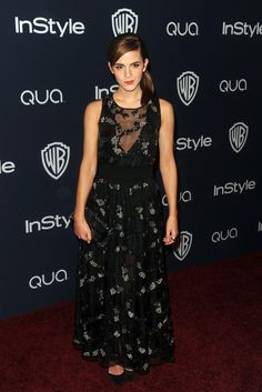 Emma Watson at the InStyle and Warner Bros. Golden Globes after party.