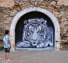 Wild Welva is a street artist based in Huelva, Spain.  Seba Ventana, the guy behind Wild Welva creates big hand made drawings on paper that are pasted up on walls afterwards. He focuses on animals …