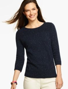 Tweed A-Line Sweater - Talbots