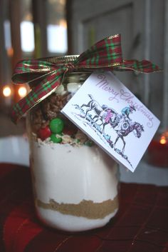 The Nesting Corral: Homemade Christmas Gifts: Cookies in a Jar
