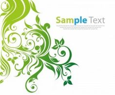 Swirl Floral Vector Background
