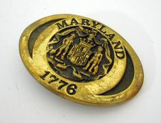 Maryland Heritage Mint Belt Buckle 1978 by honeyblossomstudio