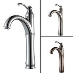 Shop for KRAUS Riviera Single Hole Single-Handle Vessel Bathroom Faucet in Satin Nickel. Get free shipping at Overstock.com - Your Online Home Improvement Outlet Store! Get 5% in rewards with Club O! - 13247541
