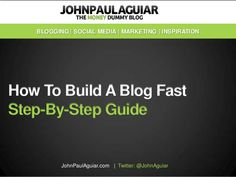 Step by step guide to build a blog the right way from the start.