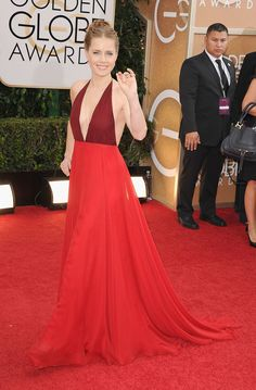 Amy Adams took the plunge for the Golden Globes!