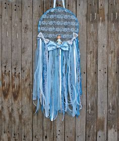 The perfect dream catcher for baby boy nursery decor. It's made of laces, ribbons and a gorgeous prince figurine in shades of blue and silver. Its perfect for baby shower decor or gift Baby Boy Nursery Decor, Baby Boy Rooms, Baby Boy Nurseries, Room Baby, Birthday Party Decorations, Baby Shower Decorations, Prince Birthday Party, Prince Party, Prince Nursery
