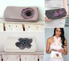 Plum Tree Weddings   Wedding blog featuring simple stylish modern wedding ideas: Midweek Etsy Find and Giveaway - Shibang Clutches for Brides and Bridesmaids
